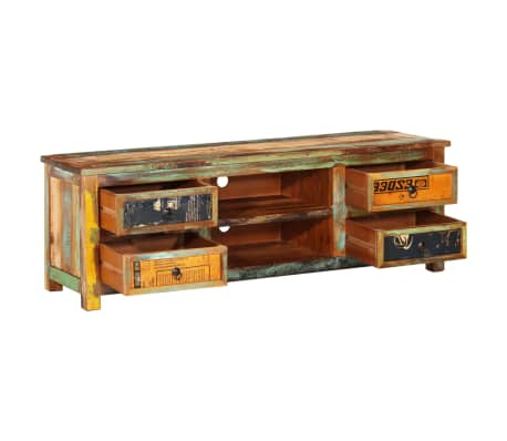 Peachy Reclaimed Wood Tv Cabinet Tv Stand 4 Drawers Download Free Architecture Designs Grimeyleaguecom
