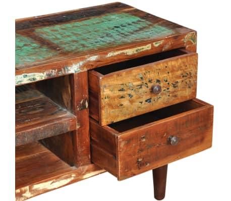 Design antik teak tv tisch lowboard sideboard 2 schubladen for Tisch koffer design