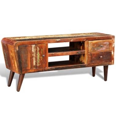 acheter meuble tv vintage multicolore 1 porte et 2 tiroirs. Black Bedroom Furniture Sets. Home Design Ideas