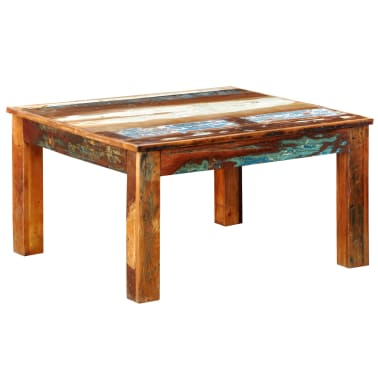 vidaXL Coffee Table Square Reclaimed Wood[1/6]