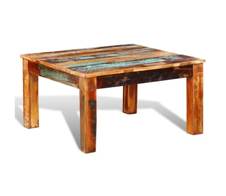 vidaXL Coffee Table Square Reclaimed Wood[2/6]