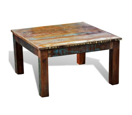 vidaXL Coffee Table Square Reclaimed Wood[3/6]