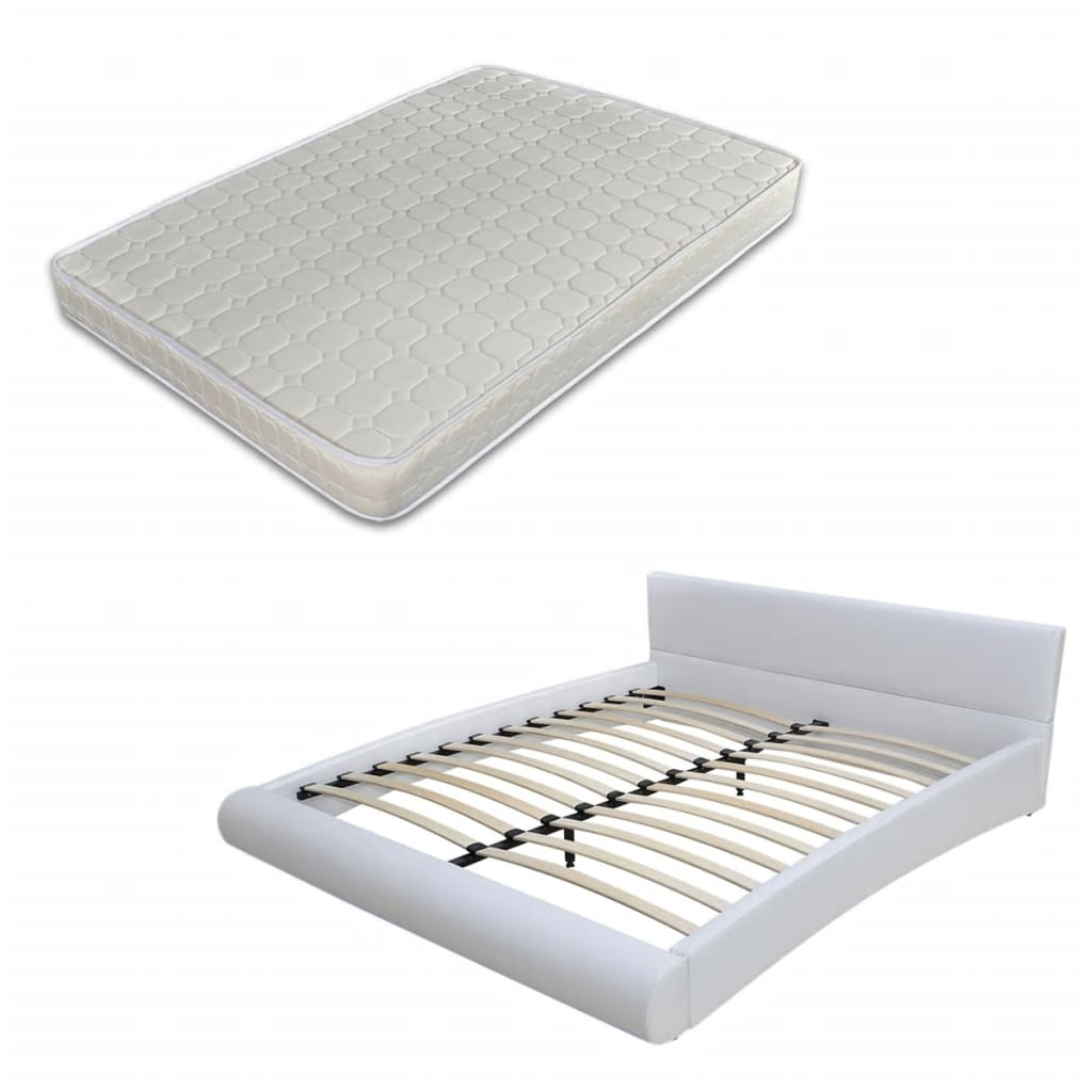 Afbeelding van vidaXL 2-persoons bed Fluente wit 180 x 200 incl. matras