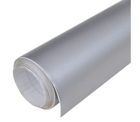 Auto wrapping folie mat zilver 200 x 152 cm[4/6]