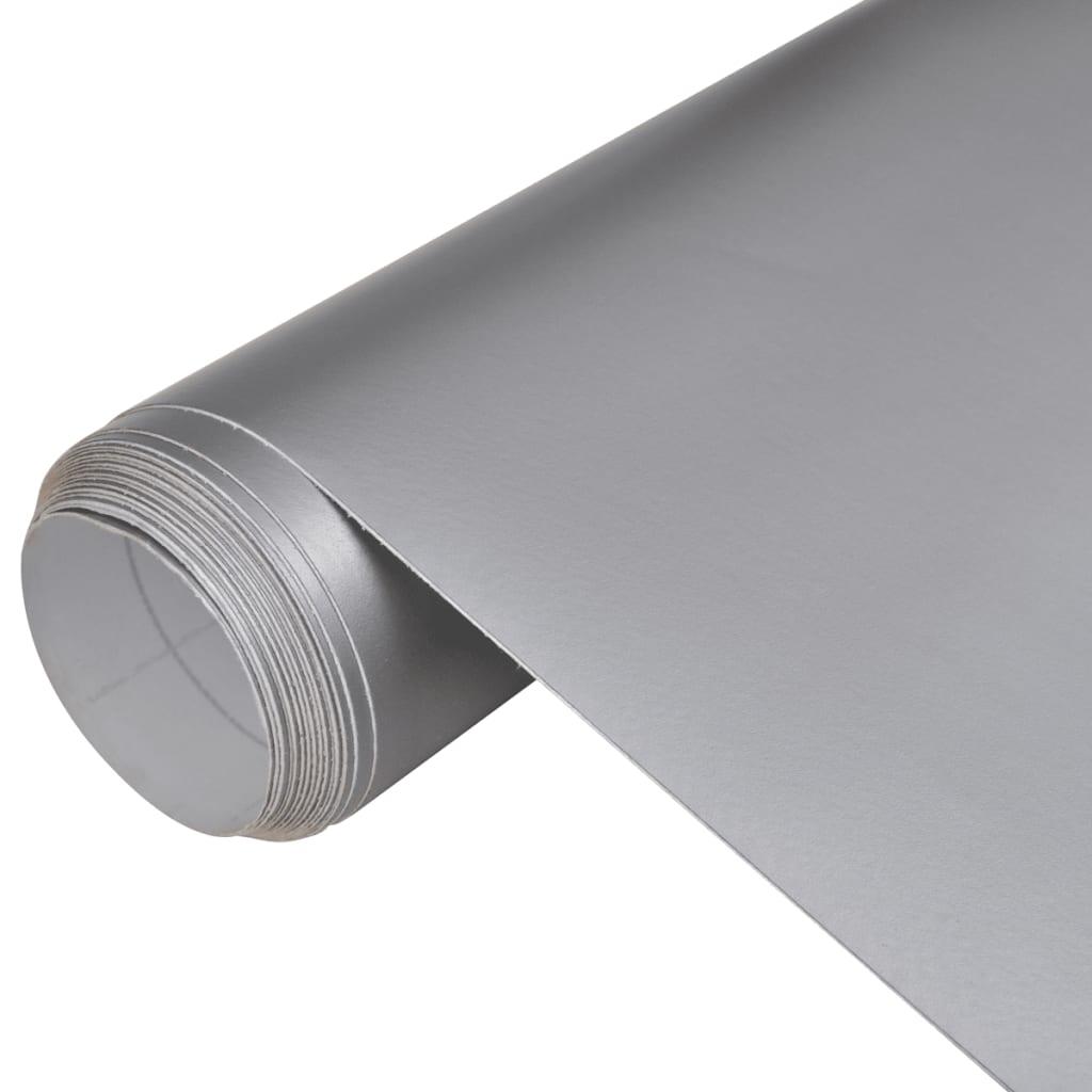 Matná stříbrná fólie do auta , 500 x 152 , vodě odolná , bez bublin