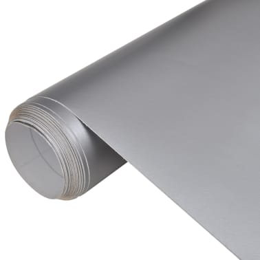 "Car Film Matt Silver 60"" x 197"" Waterproof Bubble Free[1/6]"