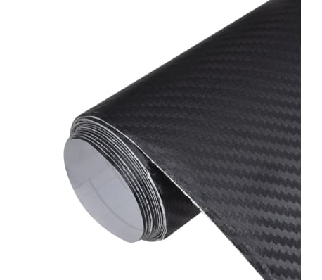"Carbon Fiber Vinyl Car Film 3D Black 60"" x 79""[1/7]"