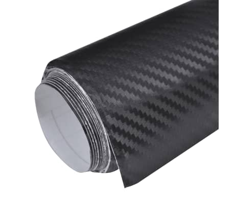 "Carbon Fiber Vinyl Car Film 3D Black 60"" x 79""[2/7]"