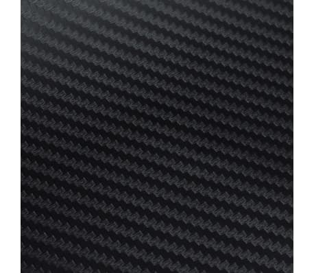 "Carbon Fiber Vinyl Car Film 3D Black 60"" x 79""[5/7]"