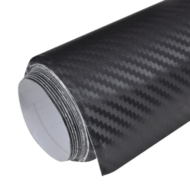 "Carbon Fiber Vinyl Car Film 3D Black 60"" x 197""[2/7]"