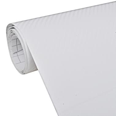 "Carbon Fiber Vinyl Car Film 3D White 60"" x 79""[1/6]"
