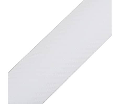 "Carbon Fiber Vinyl Car Film 3D White 60"" x 79""[3/6]"
