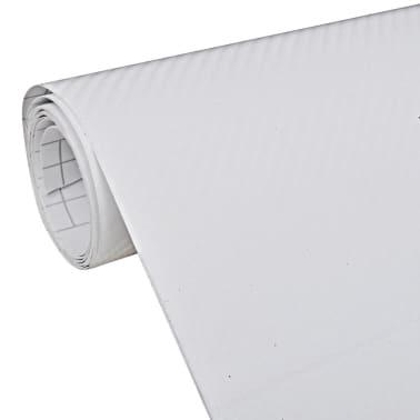 "Carbon Fiber Vinyl Car Film 3D White 60"" x 197""[1/6]"