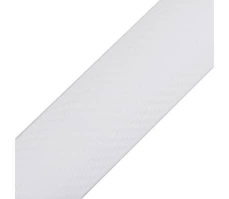 "Carbon Fiber Vinyl Car Film 3D White 60"" x 197""[3/6]"