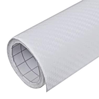 "Carbon Fiber Vinyl Car Film 3D White 60"" x 197""[2/6]"