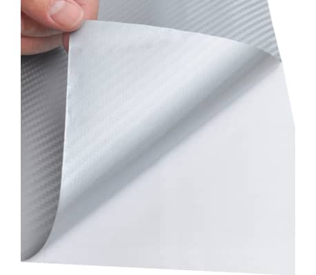 "Carbon Fiber Vinyl Car Film 3D Silver 60"" x 197""[4/6]"