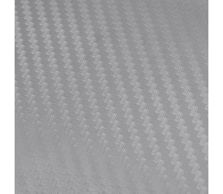 """Carbon Fiber Vinyl Car Film 3D Silver 60"""" x 197""""[5/6]"""