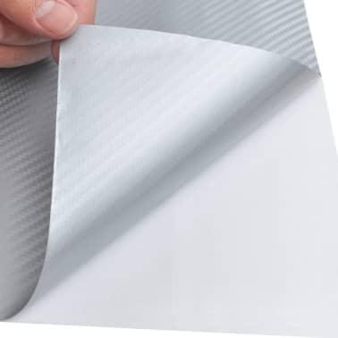 """Carbon Fiber Vinyl Car Film 3D Silver 60"""" x 197""""[4/6]"""