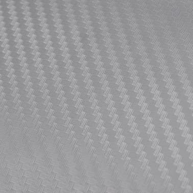 "Carbon Fiber Vinyl Car Film 3D Silver 60"" x 197""[5/6]"