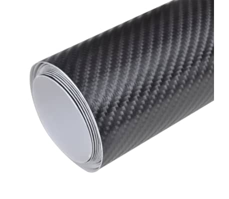 "Carbon Fiber Vinyl Car Film 4D Black 60"" x 79""[2/6]"