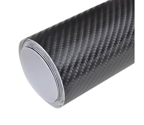 Película De Coche Vinilo De Fibra De Carbon 4D Negro 152 x 200cm[2/6]