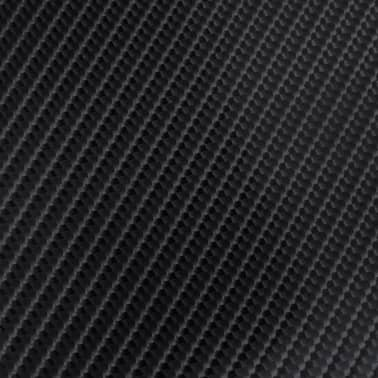 "Carbon Fiber Vinyl Car Film 4D Black 60"" x 79""[5/6]"