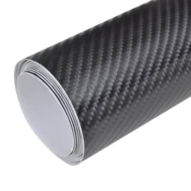 """Carbon Fiber Vinyl Car Film 4D Black 60"""" x 197""""[2/6]"""