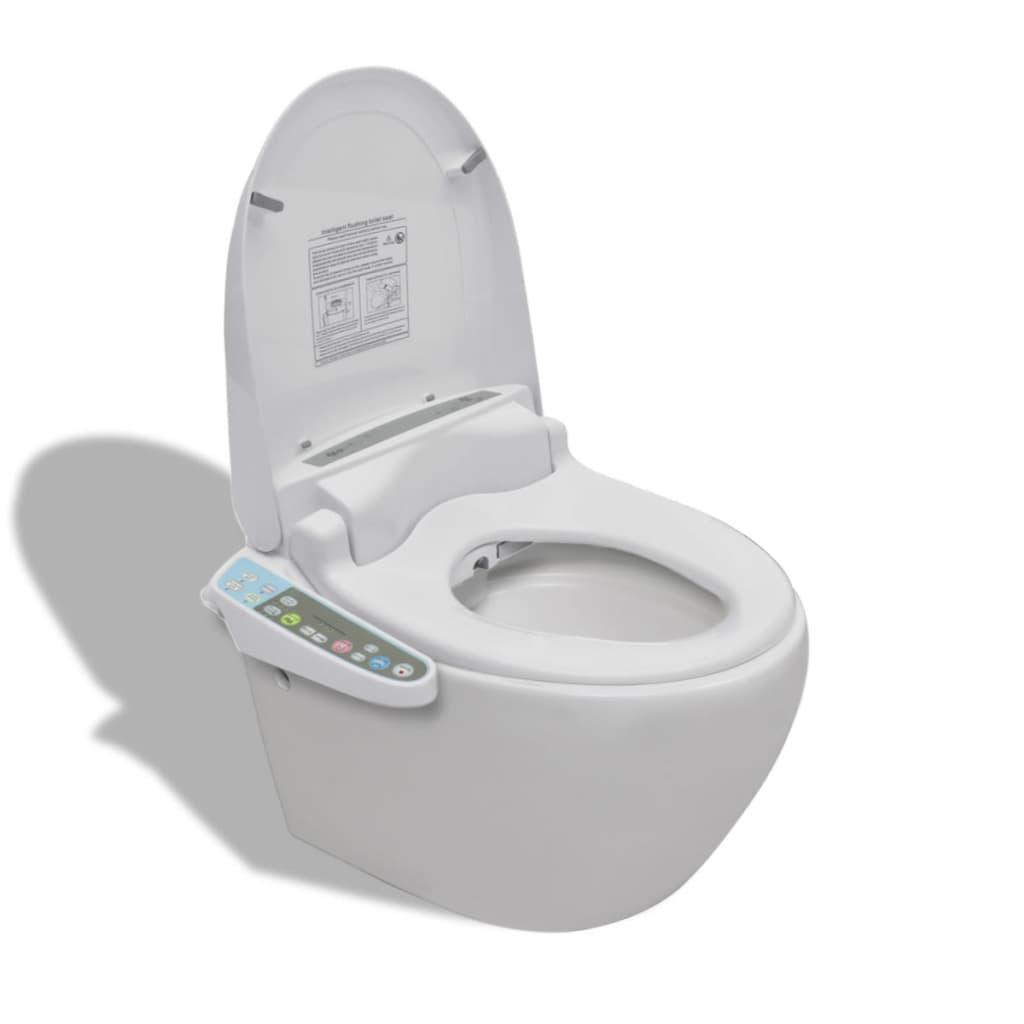 Závěsná toaleta s elektronickým bidetem - bílá