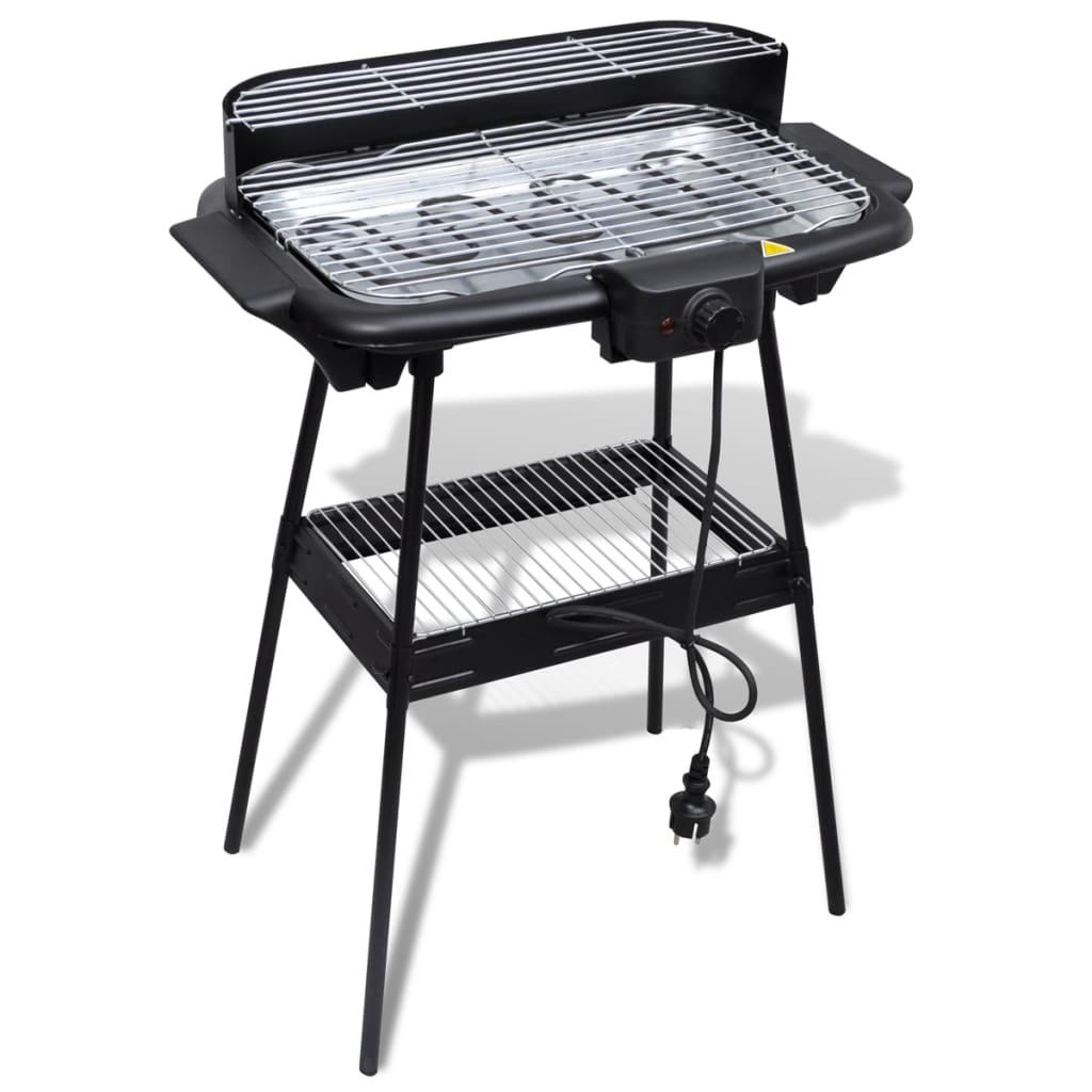 Deze hoogwaardige rechthoekige elektrische barbecue maakt het buiten koken een stuk gemakkelijker. In enkele seconden kan je een keuken creëren in je achtertuin.