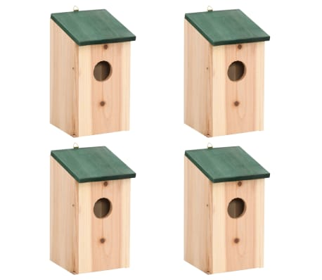 "vidaXL Bird Houses 4 pcs Wood 4.7'x4.7""x8.7""[1/9]"