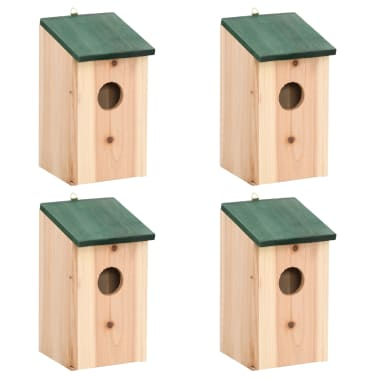 Bird House Nesting Box Wood 4 pcs[1/3]
