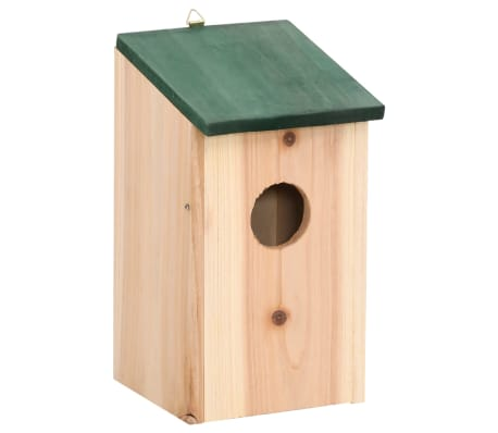 "vidaXL Bird Houses 4 pcs Wood 4.7'x4.7""x8.7""[2/9]"