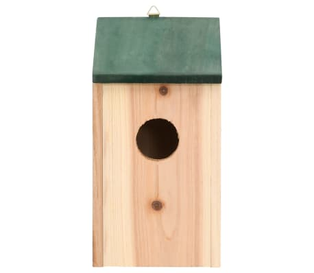 "vidaXL Bird Houses 4 pcs Wood 4.7'x4.7""x8.7""[3/9]"
