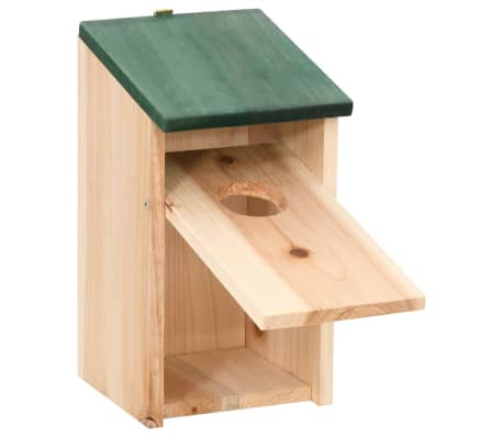 "vidaXL Bird Houses 4 pcs Wood 4.7'x4.7""x8.7""[4/9]"
