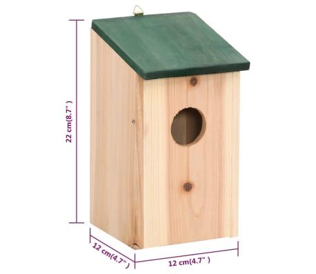 "vidaXL Bird Houses 4 pcs Wood 4.7'x4.7""x8.7""[8/9]"