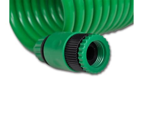 Coiled Garden Water Hose Spiral Pipe & Spray Nozzle 15 m[7/8]