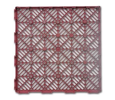 """Garden Tiles Plastic Floor Tiles 11.4""""x11.4"""" 24 pcs[3/5]"""