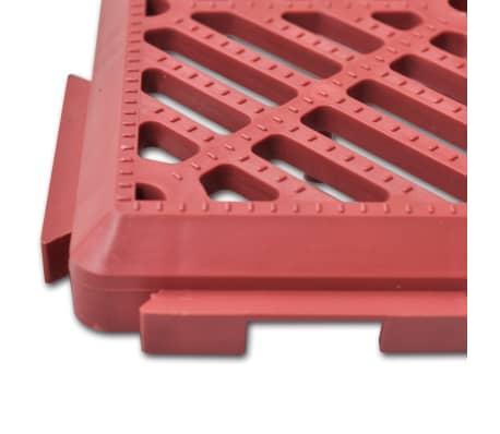 """Garden Tiles Plastic Floor Tiles 11.4""""x11.4"""" 24 pcs[4/5]"""