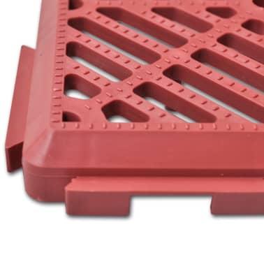 Set 24 pezzi Piastrelle plastica pavimento giardino 29 x 29 cm[4/5]