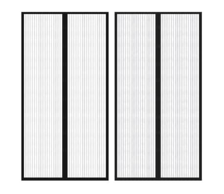 "vidaXL Insect Door Curtains 2 pcs 82.7""x39.4"" Magnet Black[1/7]"