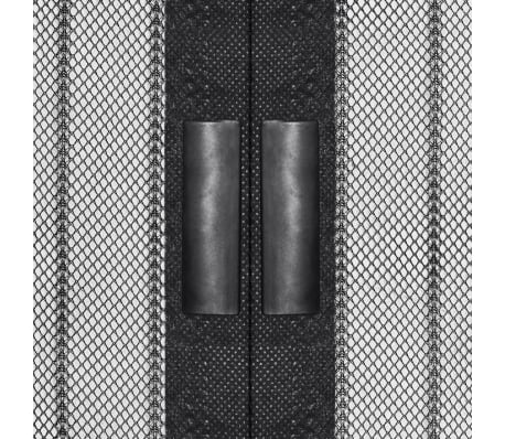 "vidaXL Insect Door Curtains 2 pcs 82.7""x39.4"" Magnet Black[3/7]"