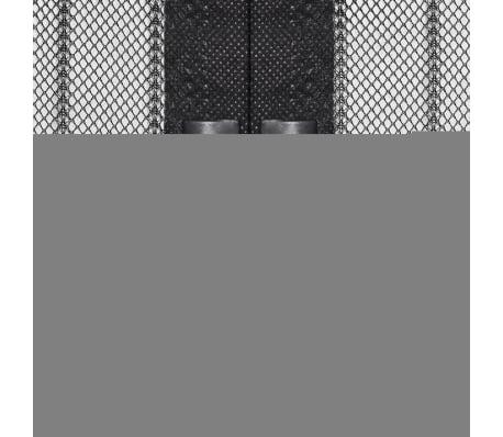 vidaXL Insektsnät till dörr 210 x 100 cm 2 st magnet svart[3/7]