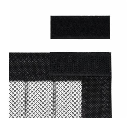 "vidaXL Insect Door Curtains 2 pcs 82.7""x39.4"" Magnet Black[5/7]"