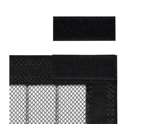 vidaXL Insektsnät till dörr 210 x 100 cm 2 st magnet svart[5/7]