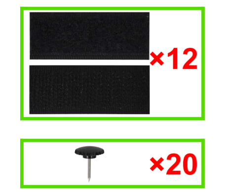 "vidaXL Insect Door Curtains 2 pcs 82.7""x39.4"" Magnet Black[7/7]"