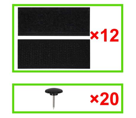 vidaXL Insektsnät till dörr 210 x 100 cm 2 st magnet svart[7/7]
