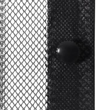 "vidaXL Insect Door Curtains 2 pcs 82.7""x39.4"" Magnet Black[4/7]"