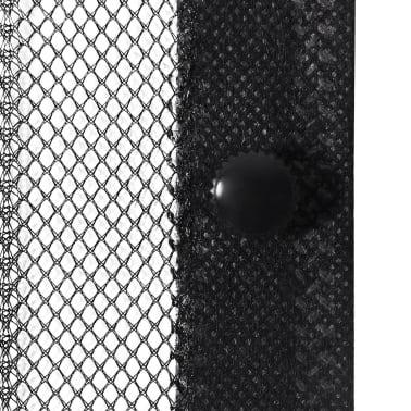 vidaXL Insektsnät till dörr 210 x 100 cm 2 st magnet svart[4/7]