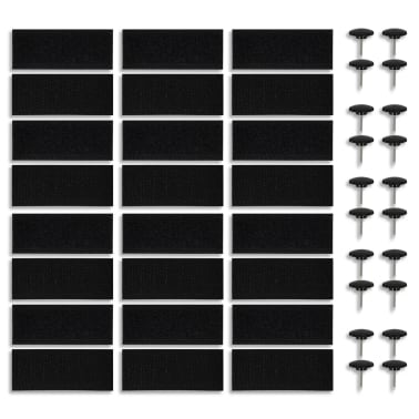vidaXL Insektsnät till dörr 210 x 100 cm 2 st magnet svart[6/7]