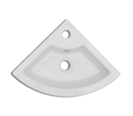 vidaXL Wastafel met overloop 45x32x12,5 cm wit[4/7]